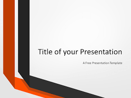 Template For Two Folded Ribbons Template For Powerpoint And Google Slides