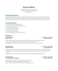 Sample Bartending Resume Resume Sample Bartender Resumes Objective