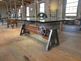 Vintage and industrial furniture Crank Vintage Industrial Dining Tables Schoolreviewco Vintage Industrial Alluring Vintage Industrial Dining Room Table And