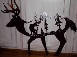 whitetail and mule deer metal art