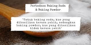 beda baking powder dan soda kue