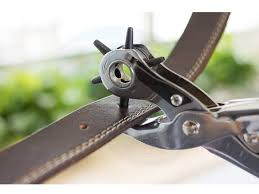 heavy duty belt leather round flat oval hole puncher punch tool pliers