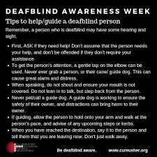 The Help Text Tips On How To Help Guide A Person Who Is Deafblind
