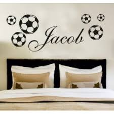 your name personalised wall art stickers kids football on design your own wall art stickers uk with your name personalised wall art stickers kids football