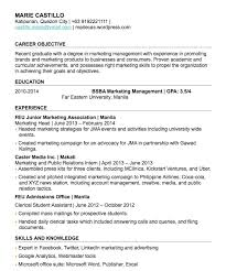 How To Write A Objective How To Write A Fresh Graduate Resume With No Work Experience