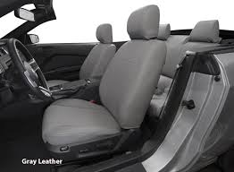 installed leather seat covers gray leather