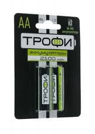 <b>Аккумулятор</b> АА <b>Трофи</b> HR6-2BL <b>2100 mAh</b> 2шт купить недорого ...