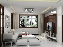 modern furniture for small spaces. [Living Room] : Contemporary Living Room Design Ideas With Neutral Shades White Couch Also Cushion Table And Pouffe Flat Screen Modern Furniture For Small Spaces