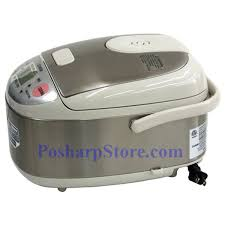 picture of zojirushi ns lac05 3 cup micom rice cooker stainless steel