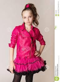 Style Studio Fashion Design School Fashion Little Girl In Glam Rock Style Stock Photo Image