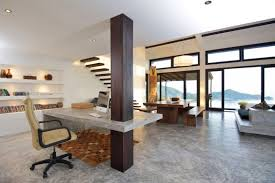 smart home office. Modern House Interior Design With Smart Home Office Ideas And Marble Floor