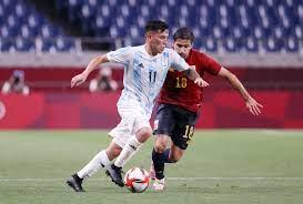 طوكيو 2020- منتخب إسبانيا الأولمبي يتعادل مع منتخب الأرجنتين الأولمبي في  المجموعة الثالثة من منافسات كرة القدم رجال - كايروستيديوم