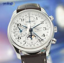 longines men s master collection chronograph calendar moonphase longines men s master collection chronograph calendar moonphase steel on leather 7612356120573
