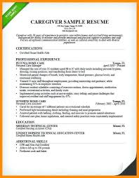 Caregiver Sample Resume Sample Resume For Caregiver Best Resume Templates And Reference 53