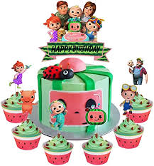 Adriana ortega julissas 1st birthday coco melon. Amazon Com Set Of Acrylic Cocomelon Happy Birthday Cake Topper Cocomelon Cake Topper Cocomelon Nursery Rhymes Party Decoration Supplies Kids Party Favor 7pcs Home Kitchen