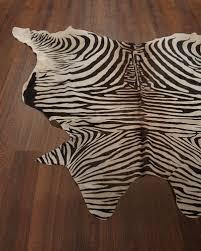 lux zebra print hairhide rug 6 x 7