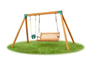 classic bench swing with baby swing diy kit