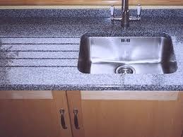 worktop grey sink cutout