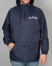 spitfire coach jacket. thrasher knock off anorak jacket - navy spitfire coach t