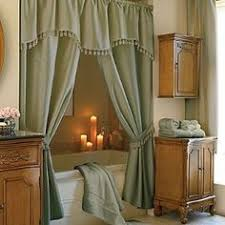 Amusing Double Swag Shower Curtain With Valance With Home Office