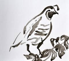 quail painting sumi e quail by beverley harper tinsley