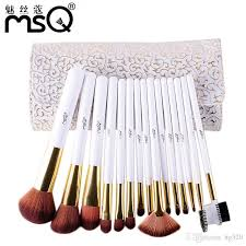 brand msq women make up brush 2016 professional famous brand makeup brushes set cosmetic brush with bag professional makeup brush set best makeup foundation