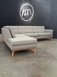 mid century modern sectional couch. Plain Century Custom Built To Order Mid Century Modern Sectional Chaise Chaise Can Be  On Either Side All In House From The Ground Up Your Design Intended Couch A