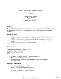Project Coordinator Resume Sample Cover Latter S Rs Geer Books