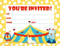 Invitation Ideas Carnival Themed Invitations Templates Free