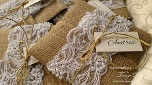 Burlap And Lace Wedding Invitations Burlap And Lace Wedding Invitations X50 Rustic Glam Country Theme