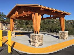 What is a pavilion Swoosh Pavilion Unique Timber Pavilion Romtec Standard Pavilions And Shelters Romtec Inc