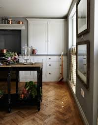 Herringbone Kitchen Floor Country Kitchen With Herringbone Parquet Flooring The Nest