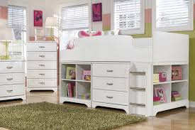 signature design by ashley lulu twin loft bed w loft drawer bin storage wayside furniture loft beds