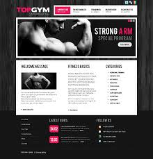 gym website design bodybuilding website template template website and website designs