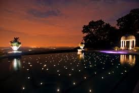 Inground pools at night Small 200 Color Fiber Optic Starlight On In Ground Infinity Edge Pool Floor Color Led Pool Lighting Cipriano Landscape Design Nj In Ground Swimming Pool Design Installation Company