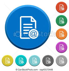 Email Buttons Send Document As Email Beveled Buttons