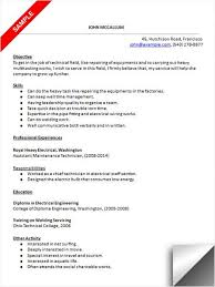 Maintenance Technician Resume Best 4812 Maintenance Technician Resume Sample Resume Examples Pinterest