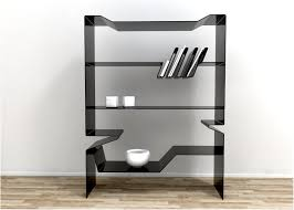 Wall Mount Bookcase Black Glass Wall Shelf Floating Corner Shelves Floating Bookcase