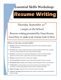 Resume Workshop Resumes Writing Powerpoint Flyer For High School