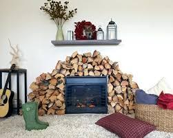 faux brick fireplace diy mantel stacked stone make hour subtle revelry licious er