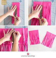 simple do it yourself tissue paper tissue garland