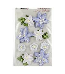 Paper Flower Stems 49 And Market Stargazers Paper Flowers 9 Pkg Periwinkle Joann