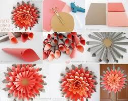 Dahlia Flower Making With Paper Diy Paper Dahlia Wreath Craft Night Paper Flower Art