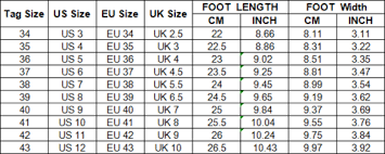 World Foot Size Chart Women Shining Casual Slip On Sneaker Shoes Miracle228