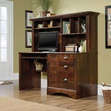 computer hutch home office traditional. Cherry Brown Computer Desk With Hutch Home Office Traditional Y