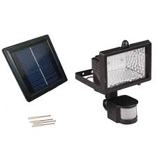 solar goes green solar powered 50 ft range black motion outdoor led security detector light 28