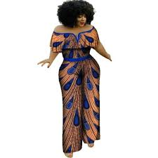 Traditional Jumpsuit Designs Traditional African Women Clothing Cotton V Neck Jumpsuit