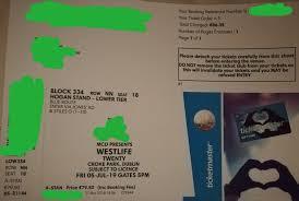Details About Westlife At Croke Park Dublin 05 Jul 19 Single