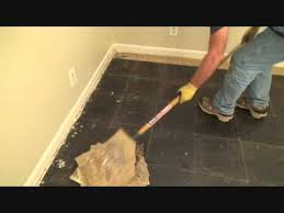 how to remove vinyl floor tiles with a floor ser