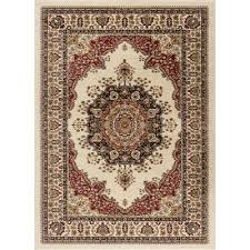 sns4702 8x11 8 x 10 large red and beige area rug sensation